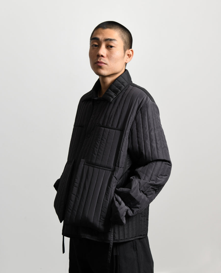 Quilted Worker Jacket Grey/Grey