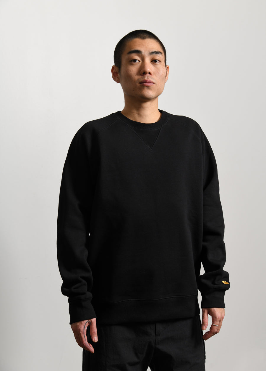 Chase Crewneck Sweater Black/Gold