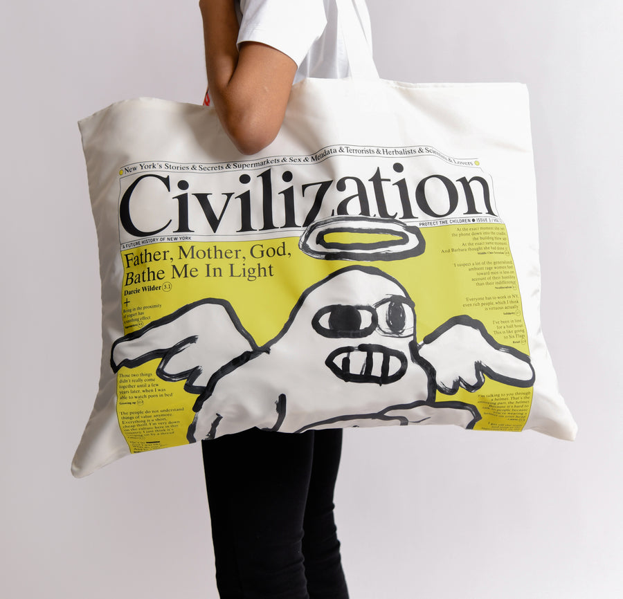 Civilization Print Bag White K202
