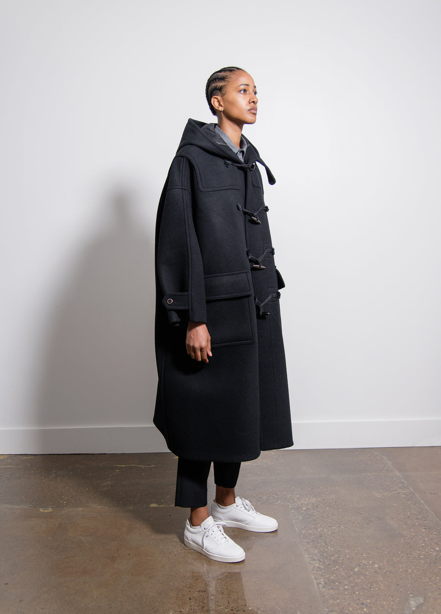 Trapeze Duffle Coat Black