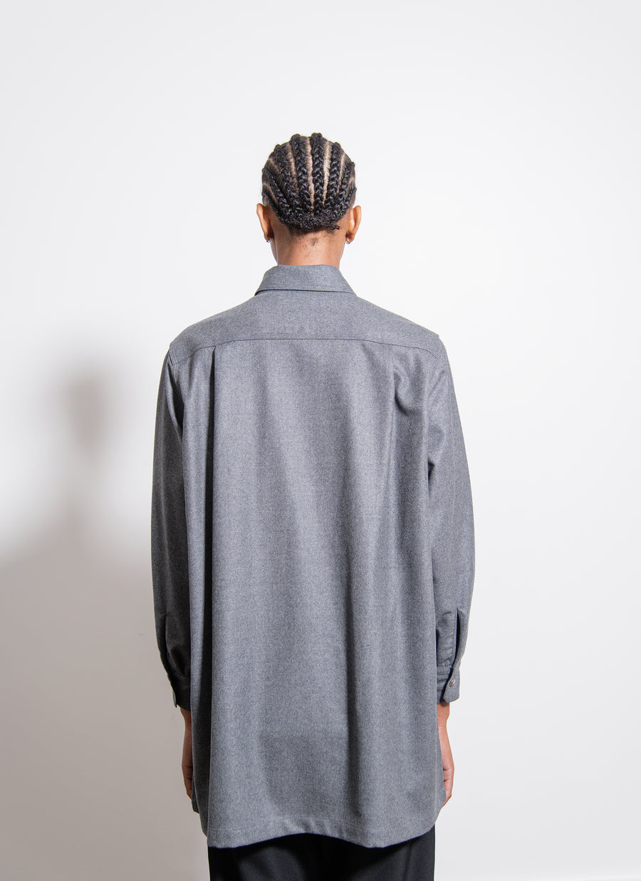Piko Embroidery Side Line Shirt Grey