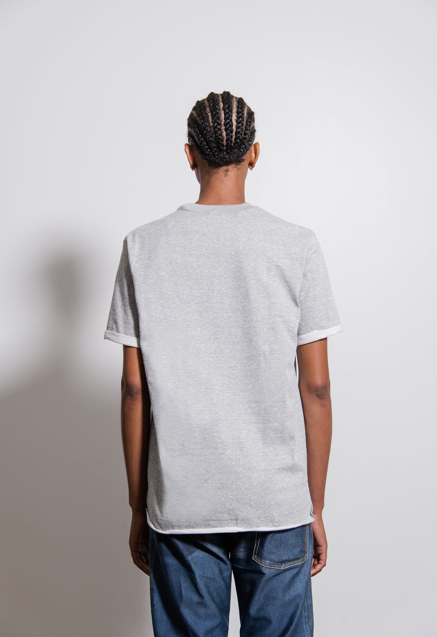UCLA Nep Yarn Jersey Tee Top Grey/Yellow