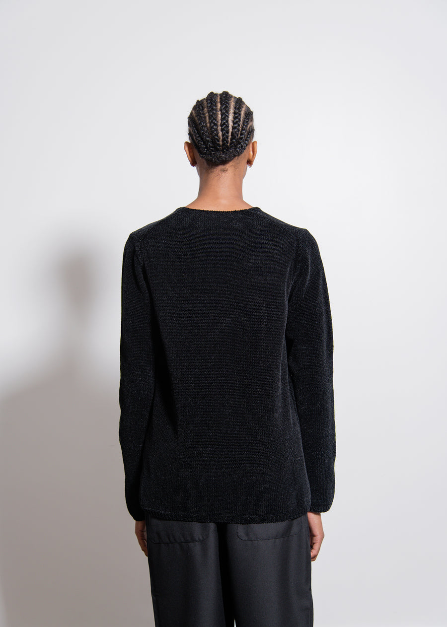 Polyester Mole Jersey Sweater Black