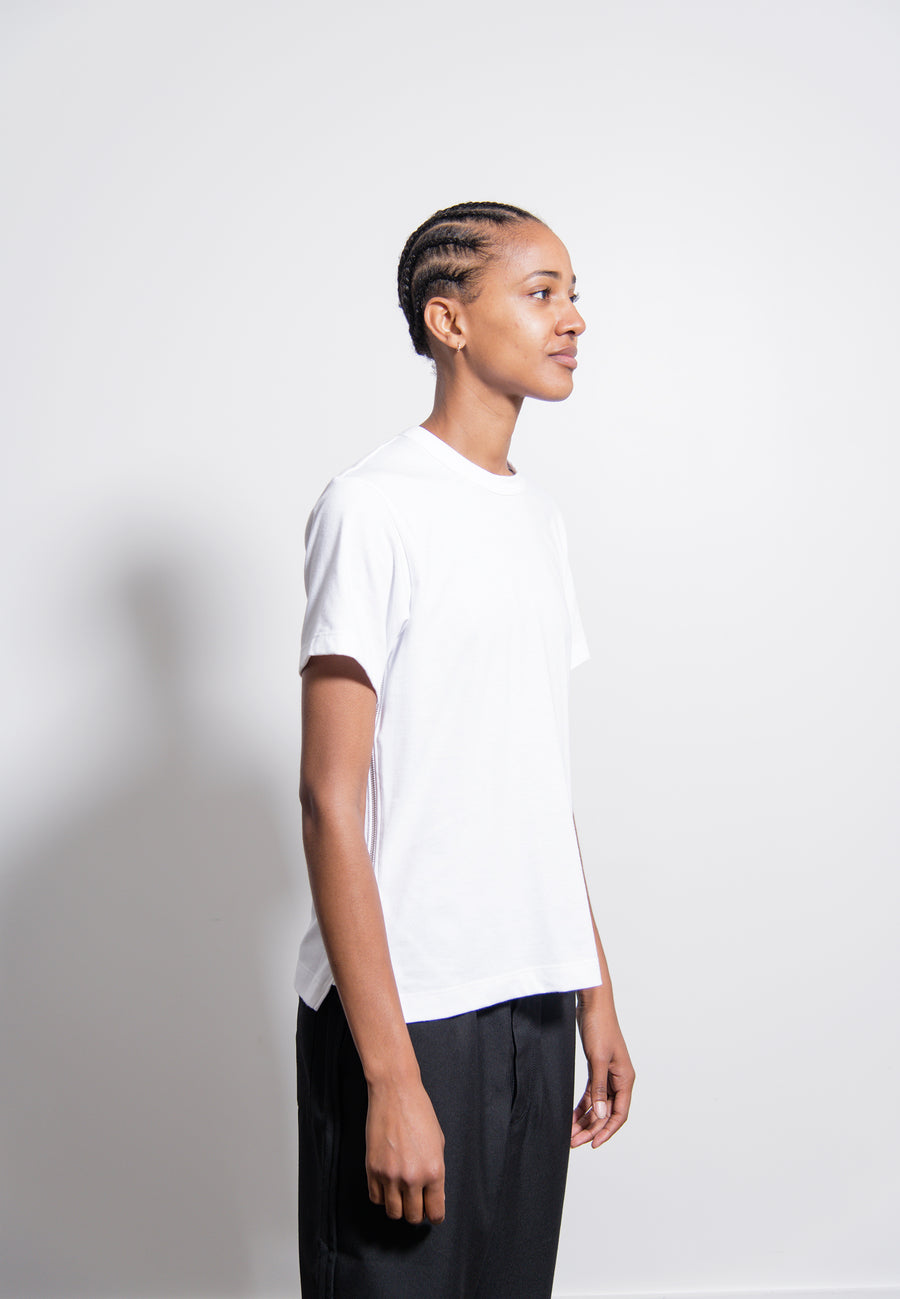 Side-Zip Tee White