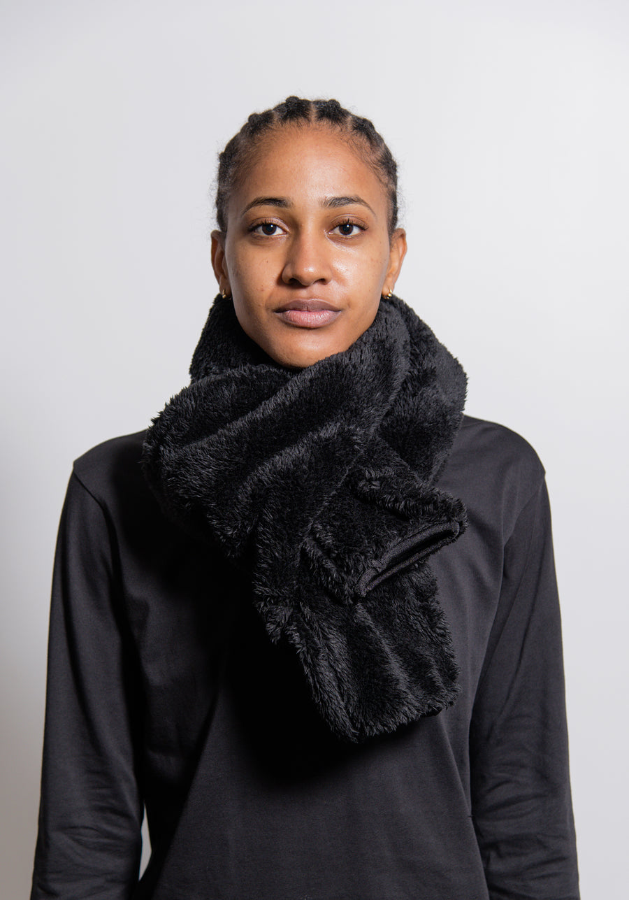 Boa Fleece Scarf Black