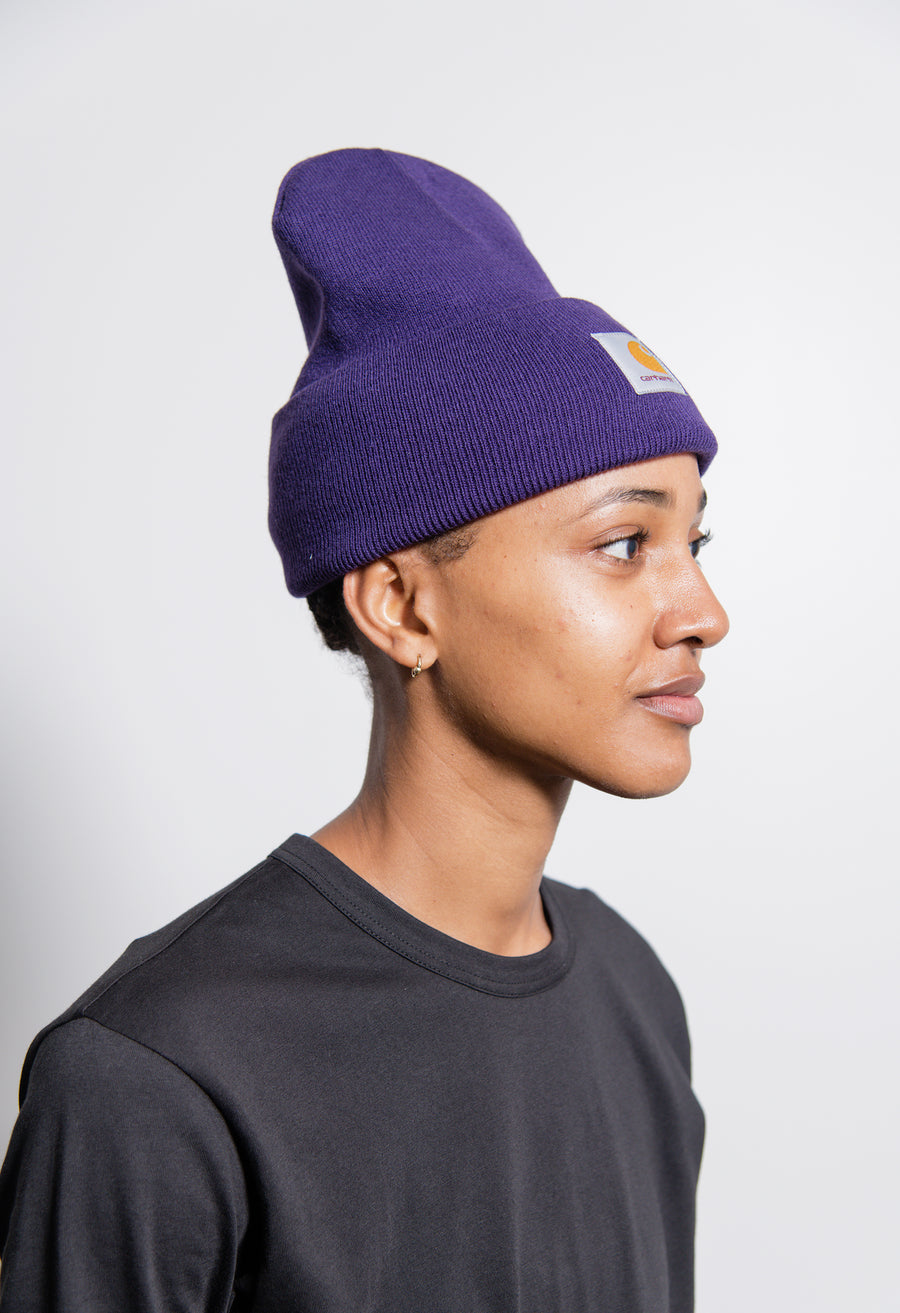 Acrylic Watch Hat Royal Violet