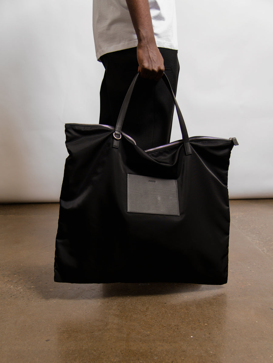 Large Zip Tote Bag Black