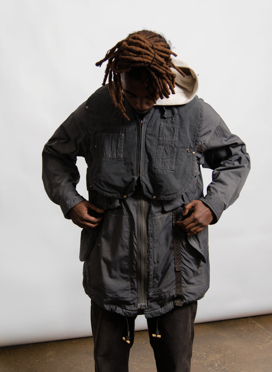 Paratrooper Coat Grey