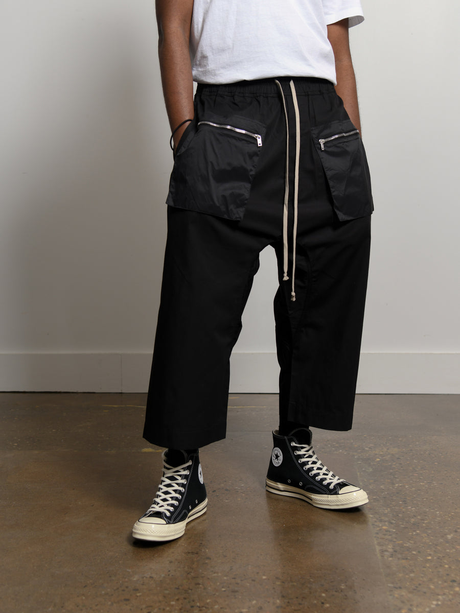 Cropped Drawstring Pant Black