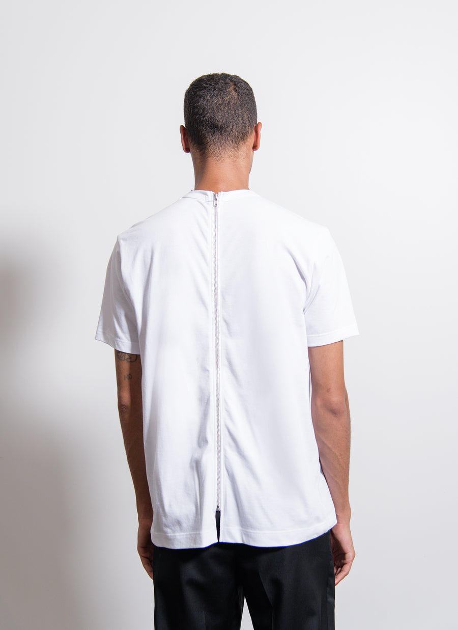 Back-Zip Tee White