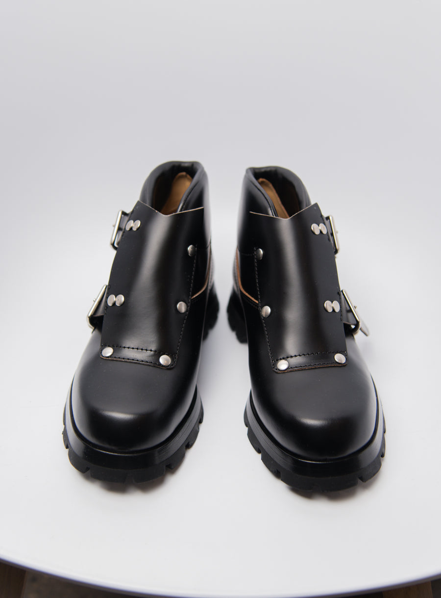 Calfskin Ankle Boot Black