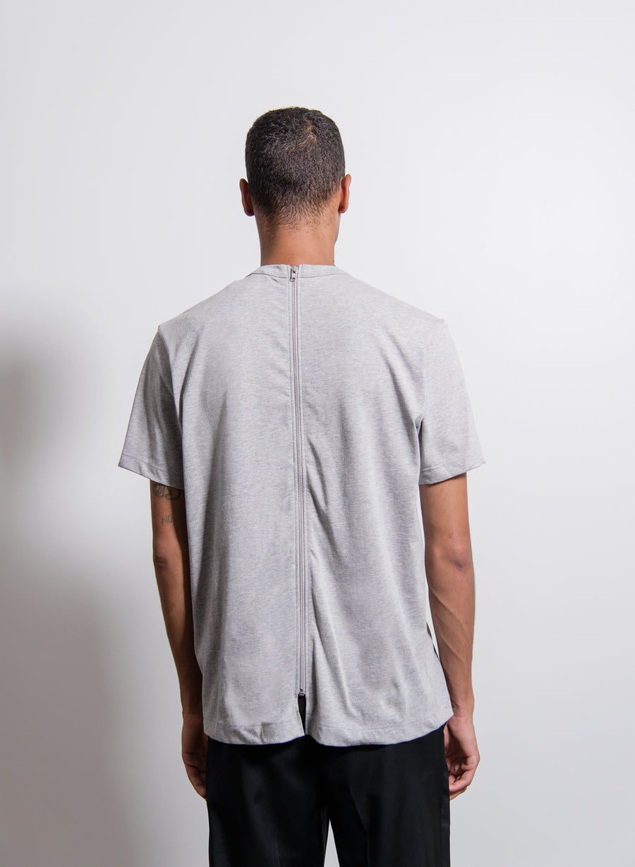 Back-Zip Tee Grey