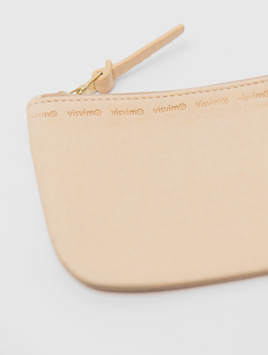 Large Leather Wallet Ivory