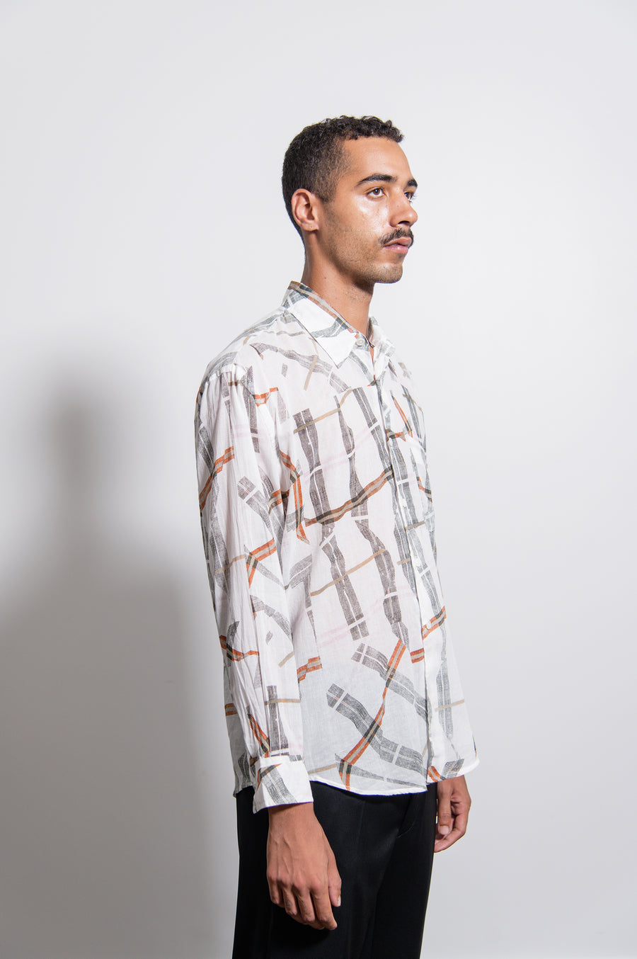 Coco Cracked Check Shirt White