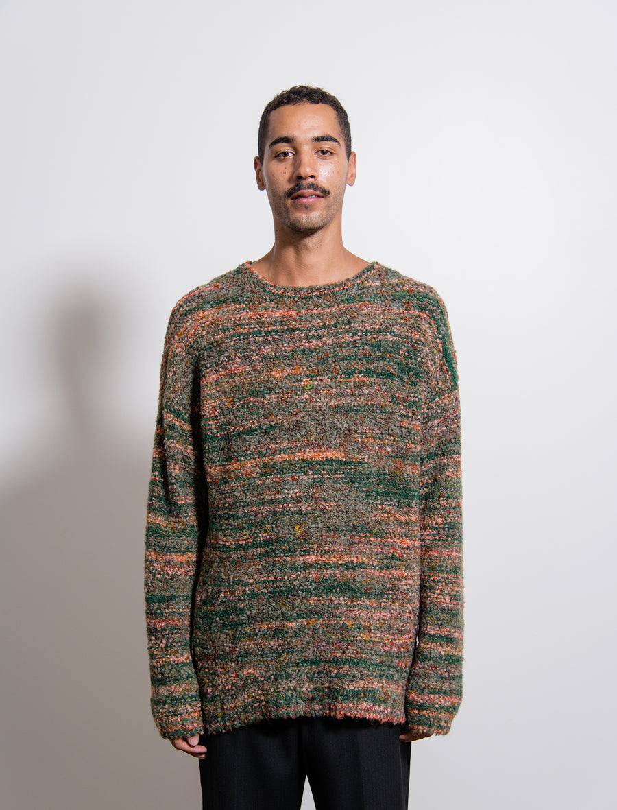 Knit Fair Isle Sweater Red/Green