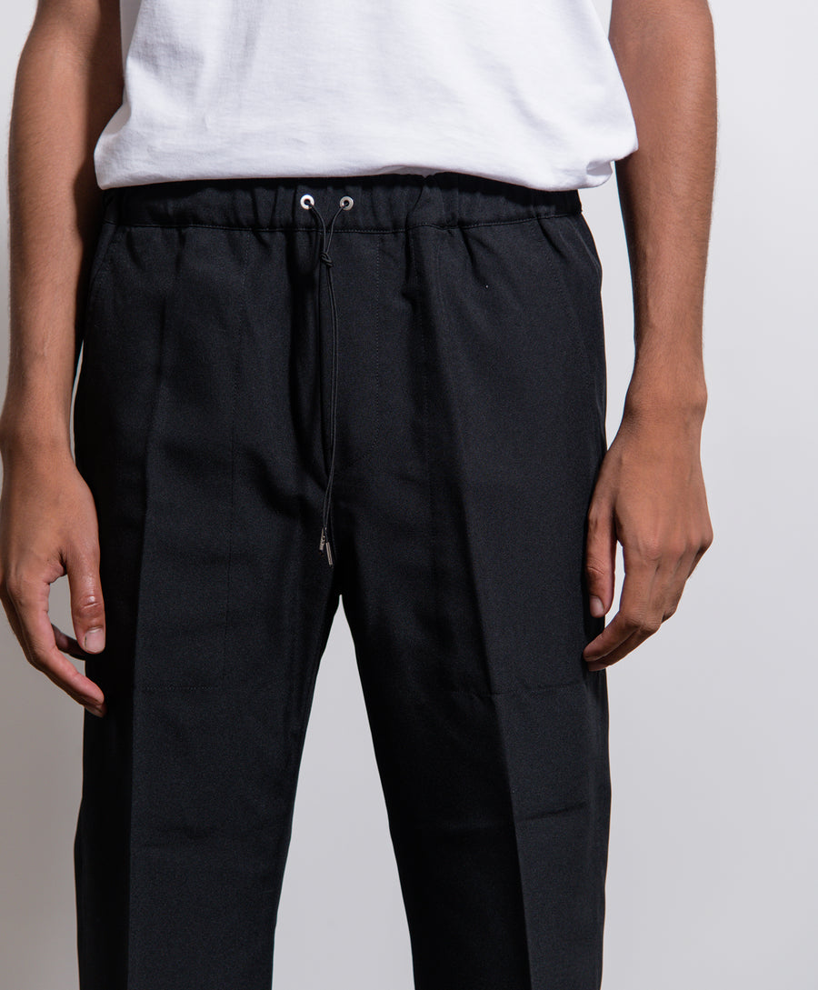 Cropped Drawcord Pant Black