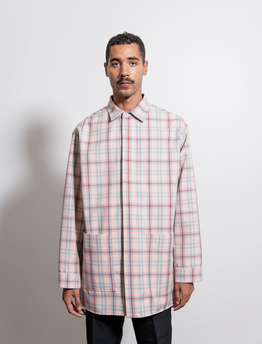 Aberdeen Macro Wool Check Shirt Band Aid