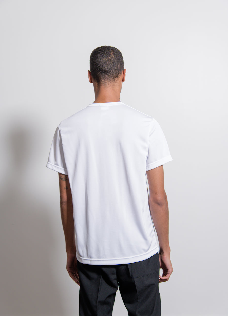 Polyester Jersey Print Tee White/Black