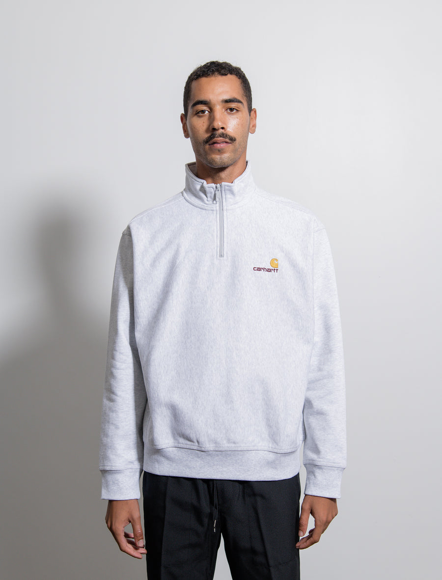 Half-Zip American Script Sweater Ash Heather