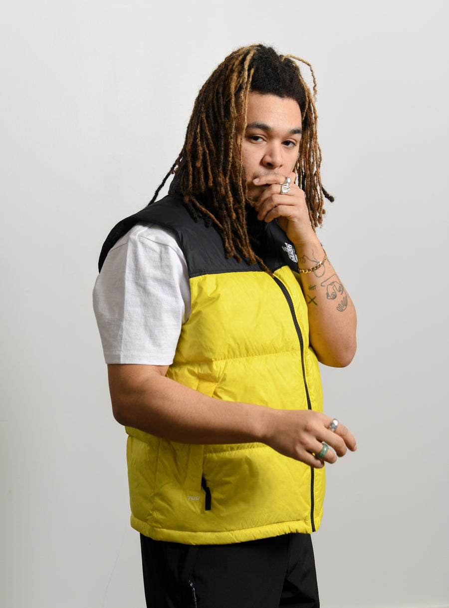1996 Retro Nuptse Vest Lemon