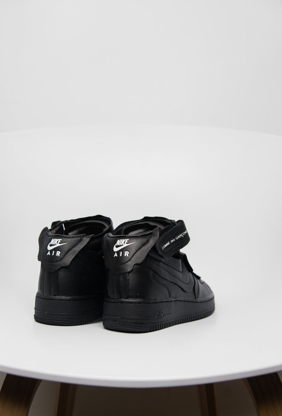 CDG Air Force 1 Mid Black/Sail/Silver DC3601-001