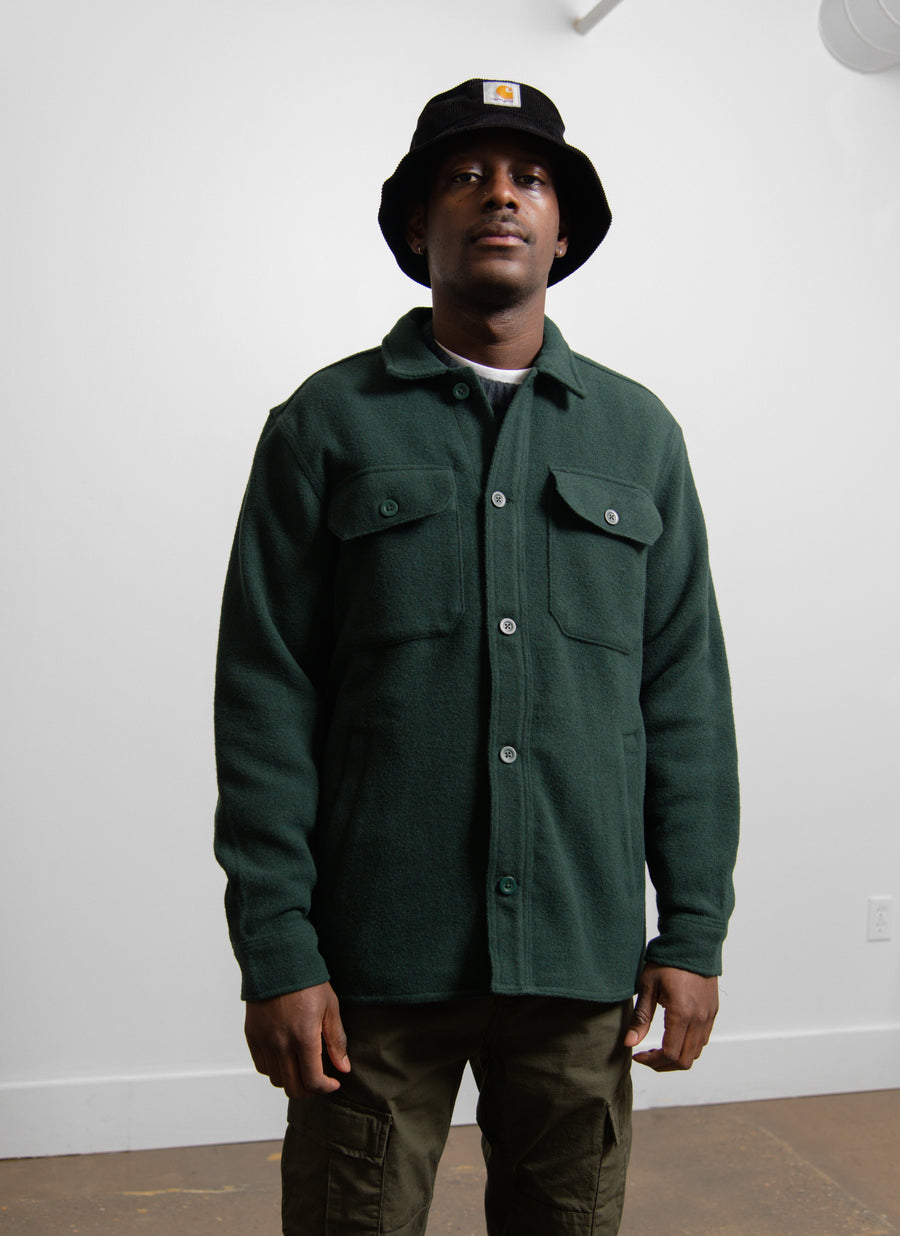 Owen Shirt Jacket Bottle Green