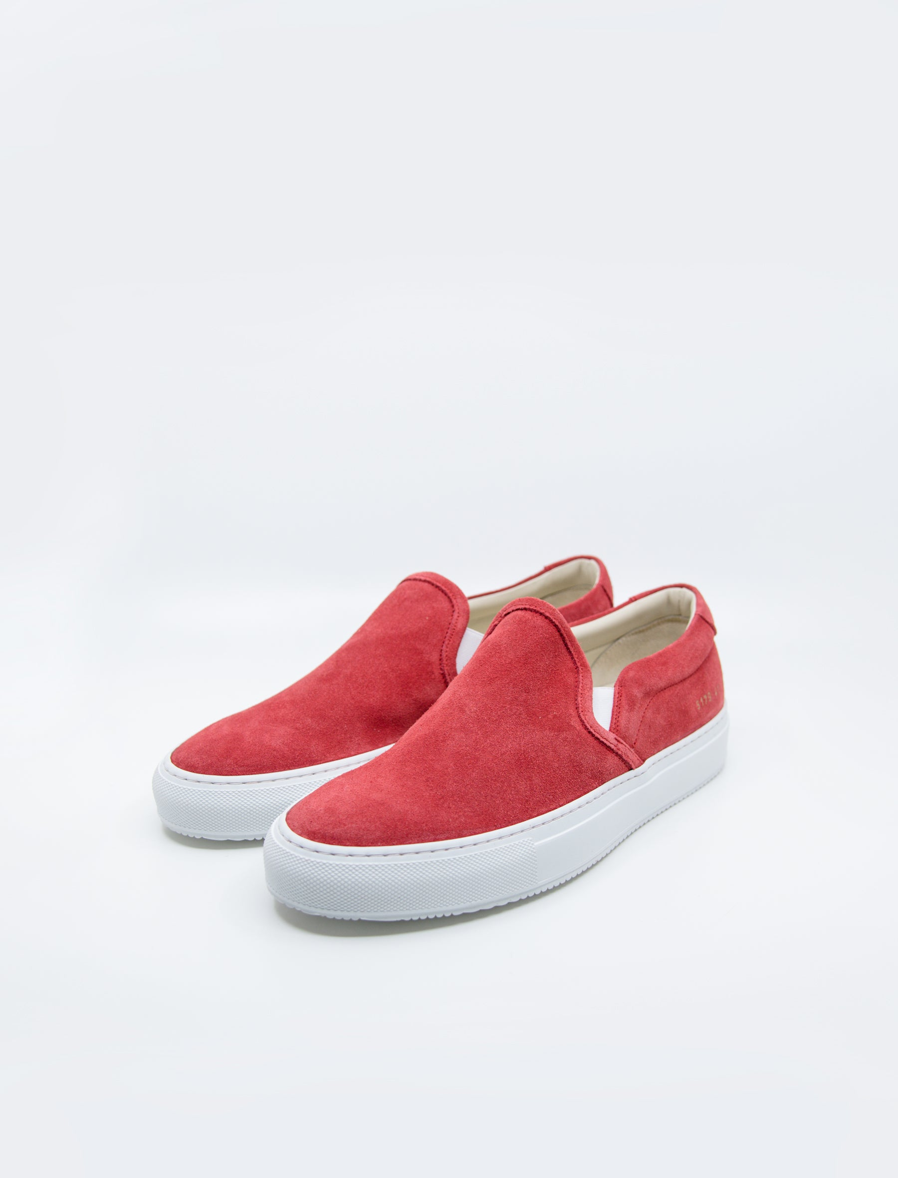 Common Projects Slip-On Suede Red – NOMAD