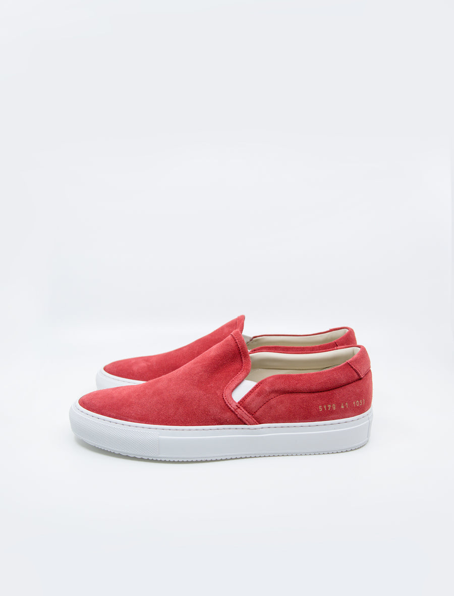 Common Projects Slip-On Suede Red