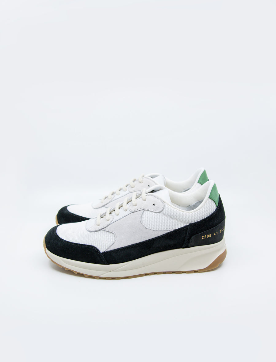 Common Projects New Track Black/White/Green