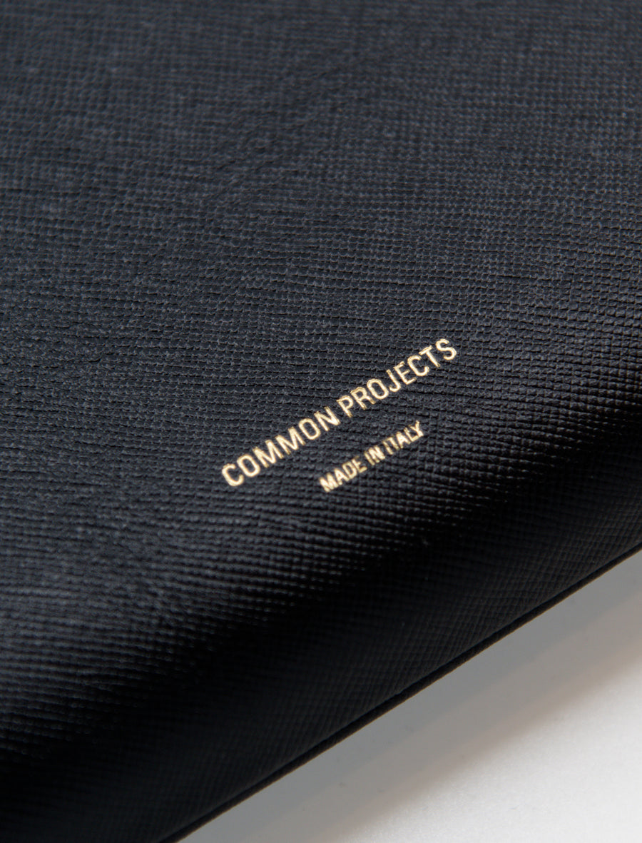 Common Projects Medium Folio Saffiano Leather Black