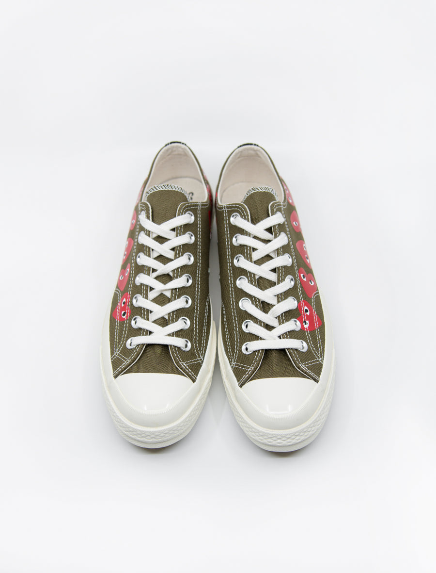 PLAY Multi Heart Chuck Taylor Low Olive K117-001-1