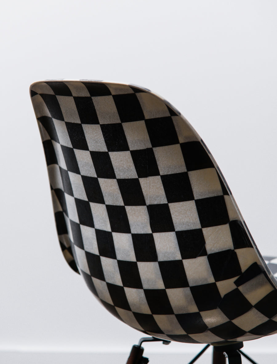 Modernica Vans Shell Chair Black Checkerboard