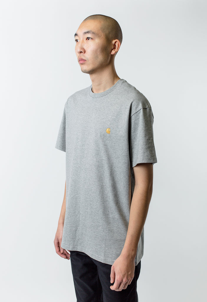 256576a0372bf ... Carthartt WIP S S Chase Tee Heather Grey ...