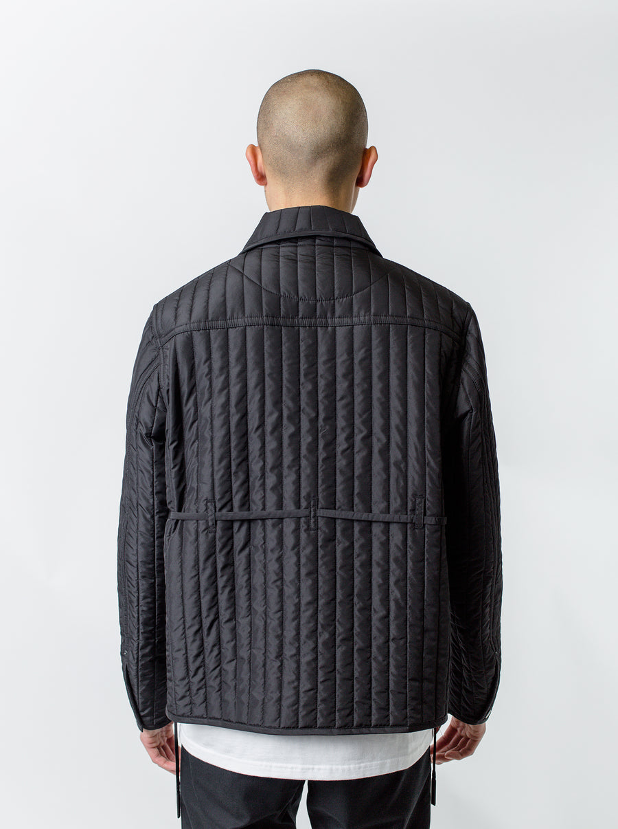 Craig Green Quilted Worker Jacket Black