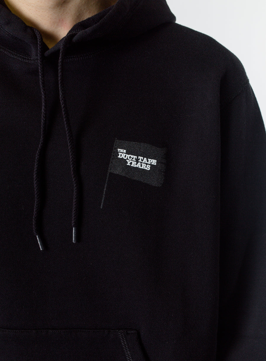 The Duct Tape Years Black Flag Pullover Hoodie Black