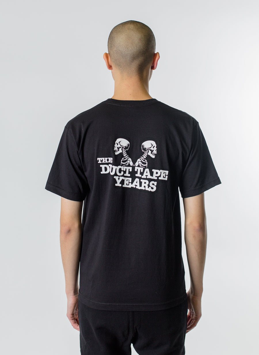 The Duct Tape Years Double Header Skeleton Tee Black