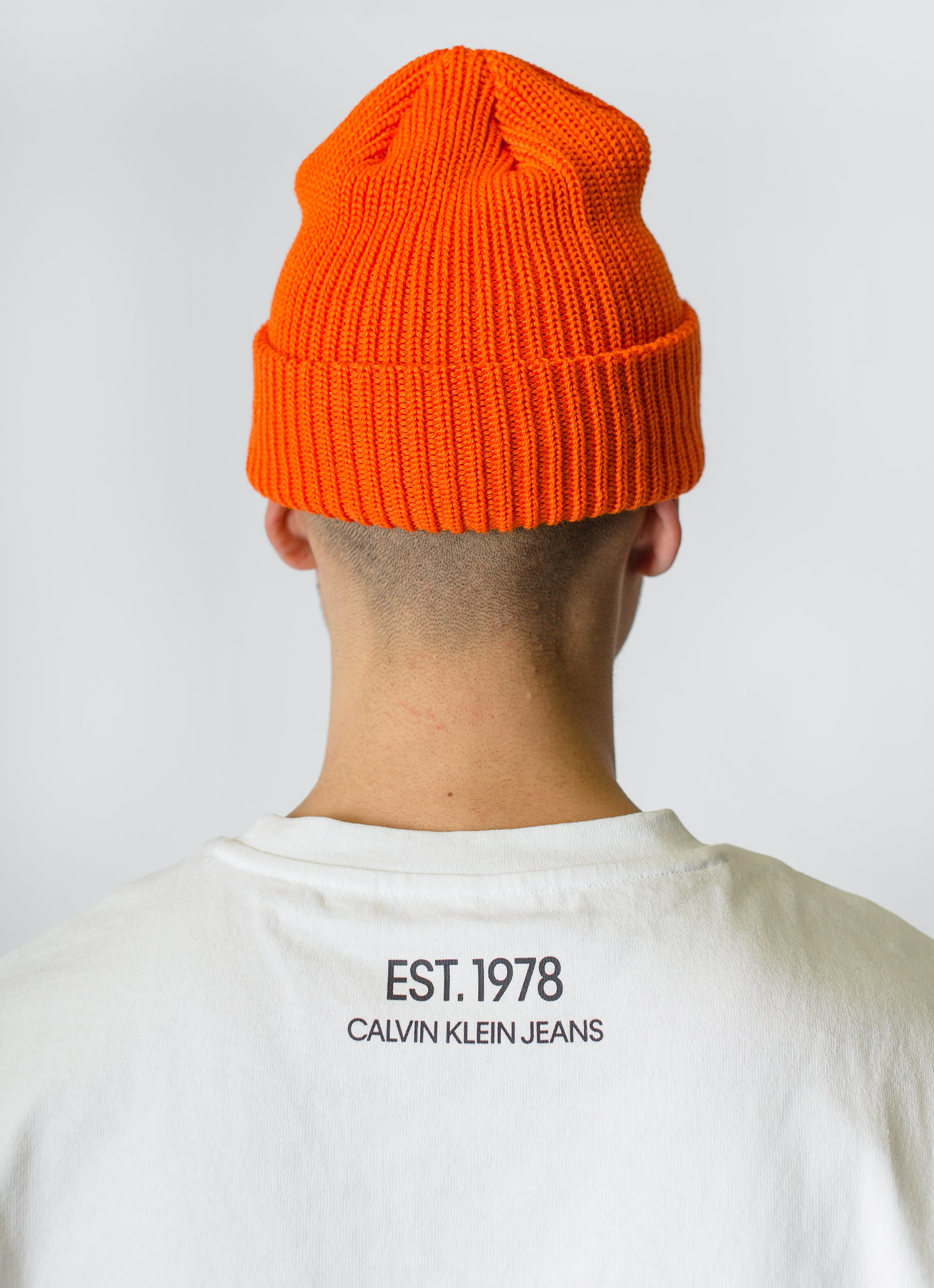 c5b4c54e1d552 ... The Duct Tape Years Logo Beanie Safety Orange
