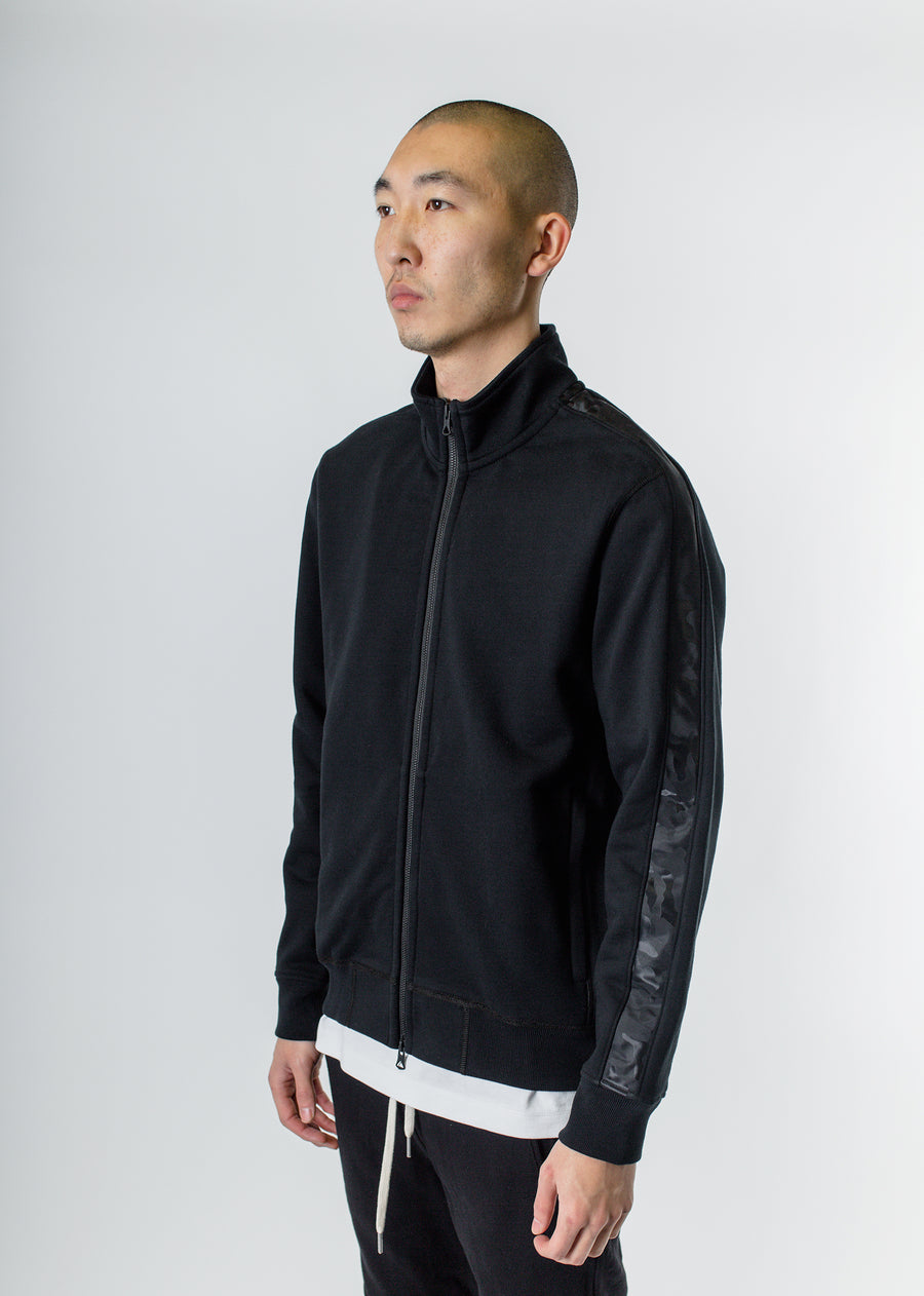 Camo Stripe Track Jacket Black