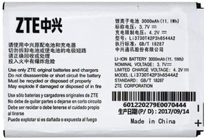 ZTE Original Li3730T42P3H6544A2 Battery for MF279T MF96 MF96U Z289L Sonic 2.0 Hotspot Battery