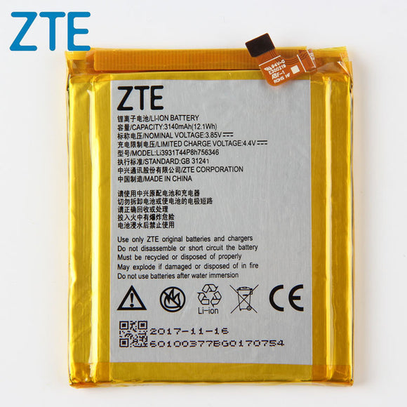 Original Axon 7 Phone battery For ZTE Axon 7 5.5 inch A2017 LI3931T44P8H756346