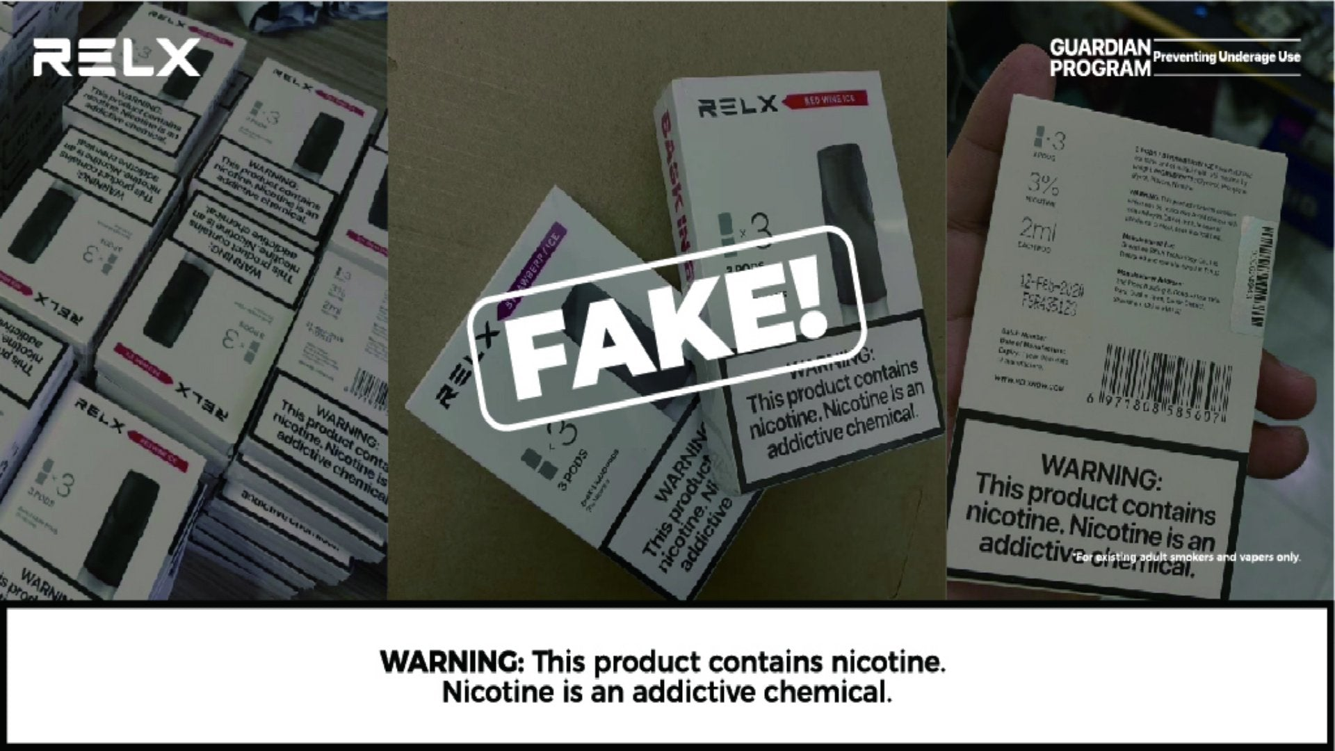 RELX Warns Consumers to Stay Away From Fake RELXPODS