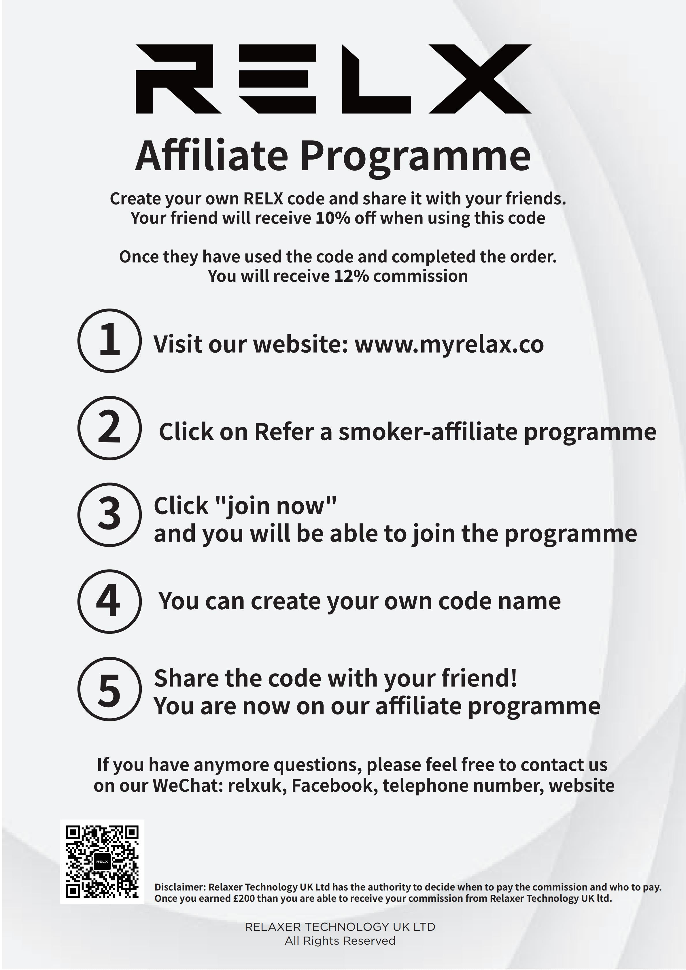 join the RELX AFFILIATE PROGRAM