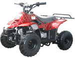 Red MOUNTOPZ 110cc    4 Stroke, Single Cylinder 4 wheeler's