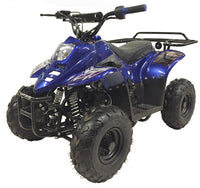 Blue MOUNTOPZ 110cc    4 Stroke, Single Cylinder 4 wheeler's