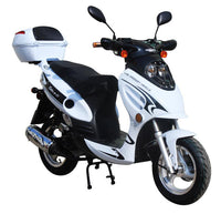 White// GATOR 50-E2 Scooters  GY-6 50CC Engine, 4 Stroke, Single Cylinder