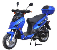 Blue//GATOR 50-E2 Scooters  GY-6 50CC Engine, 4 Stroke, Single Cylinder