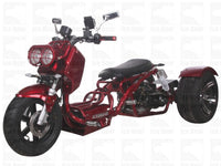 Red //MADDOG TRIKE 50CC(PST50-19N)...50cc, Air Cooled, Single Cylinder, 4-Stroke, 12 inches Front Wheel, 14 inches Rear Wheel, Front/Rear Disc Brake
