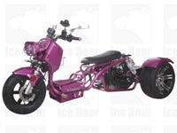 Purple MADDOG TRIKE 50CC(PST50-19N)...50cc, Air Cooled, Single Cylinder, 4-Stroke, 12 inches Front Wheel, 14 inches Rear Wheel, Front/Rear Disc Brake