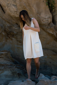 Raw Hem Tank Dress
