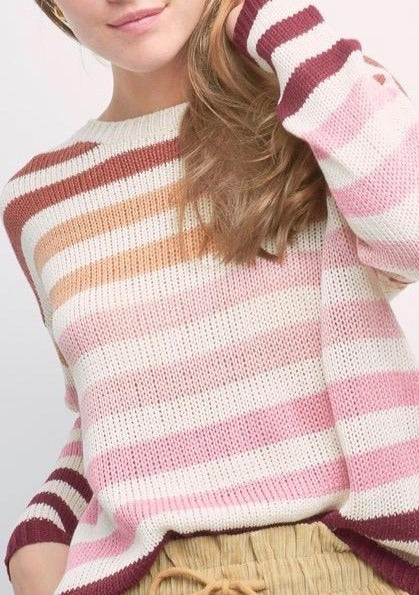 Lucy Lightweight Striped Knit Sweater